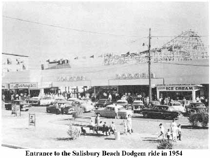 Entrance to Salisbury Beach Dodgem ride in 1954